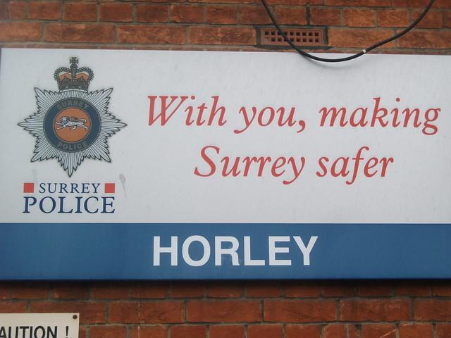 signage at horley police station signage at horley