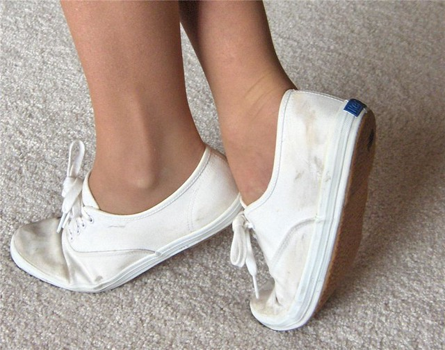 White Canvas Shoes Wife