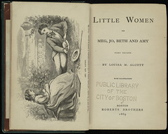 Little Women or Meg, Jo, Beth and Amy.  Part Second.  [Title page and frontispiece]