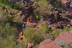 trail up Camelback