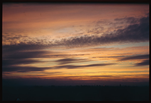 POST- SUN-SET SKY IN MID-JULY 1944. FROM ROOF OF 7000 S.S. DR. CUSHMAN