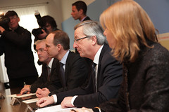 Συνάντηση με τον Πρόεδρο του Eurogroup, Jean-Claude Juncker