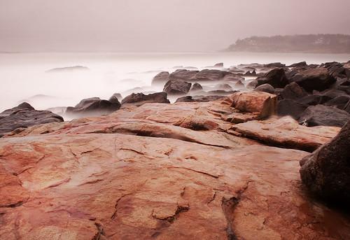 water rain rocks raining milky longexposiure bowtoo timbouwer gotprettywetintheraindoingthis