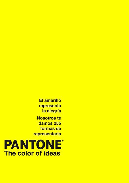 Pantone amarillo Diseo Publicitario The