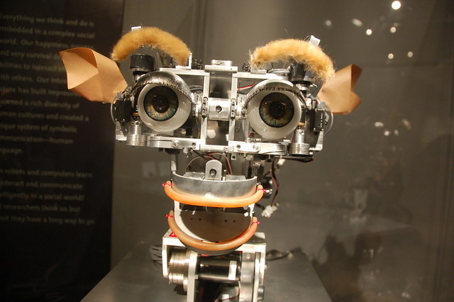 MIT Museum: Kismet the AI robot smiles at you