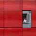 Red wall by Erwin Vindl