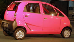 automobile, vehicle, tata nano, city car, land vehicle,