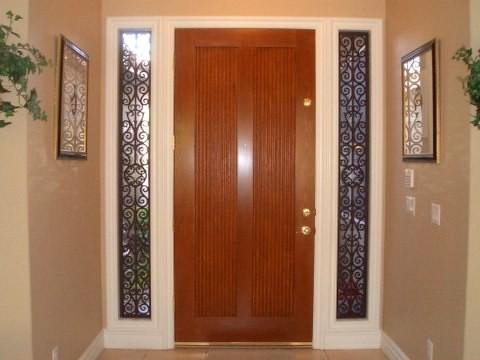 Front door side window coverings - Decorative Sidelight Door Window Flickr Photo Sharing