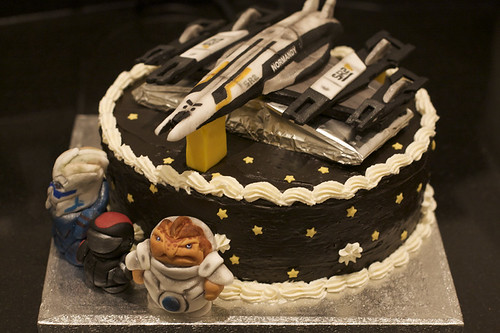 Mass Effect 2 Birthday Cake