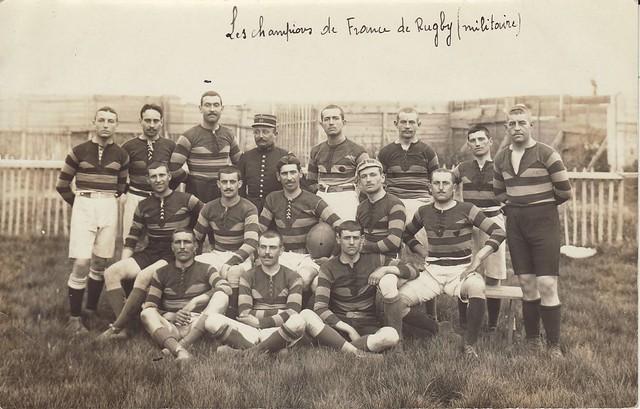 """""""Les Champions de France de rugby militaire"""" 80eme RI Narbonne 1914"""