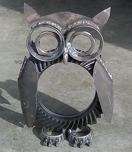 Dana 60 owl by s alcantara flickr photo sharing - Simple metal art projects ...