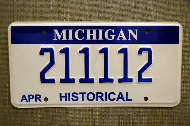 michigan historical historic license plate for classic