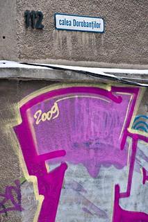 Large pink graffiti with 2009 written inside