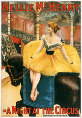 Nellie McHenry in A Night at the Circus, theatrical poster, 1893