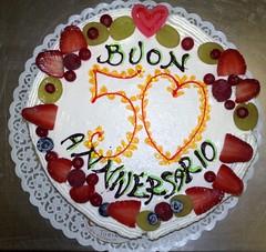 Torta Panna Frutta Anniversario 50 Anni Matrimonio Flickr