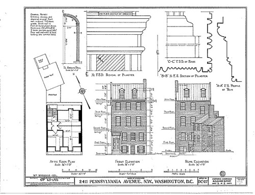 Line drawing of a rowhouse