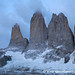 Early Light on the Torres at Torres del Paine National Park, Chile