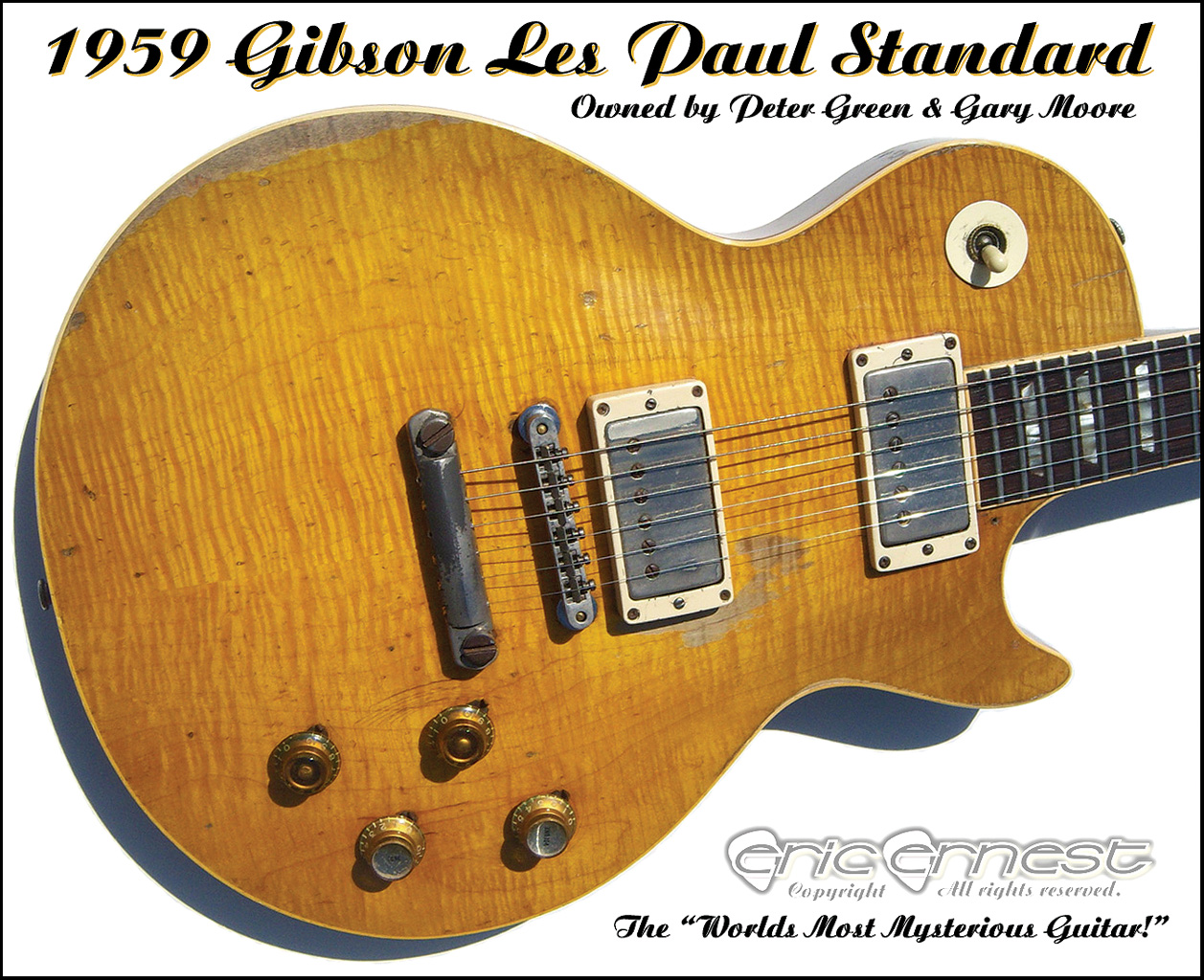 1959 gibson les paul standard peter green gary moore - Gibson gary moore ...