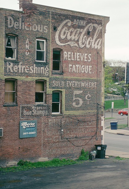 Coca-Cola Relieves Fatigue 5c, Schenectady NY - Kodachrome shot
