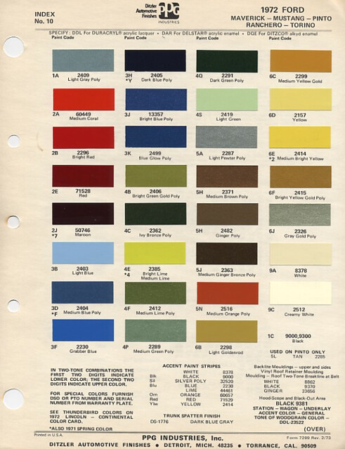 1972 Ford PPG Colors | Flickr - Photo Sharing!