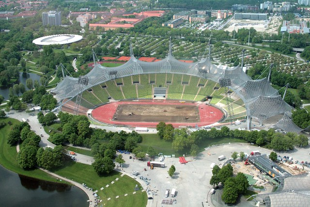 Restoring the grass in Munich Olympic Stadium