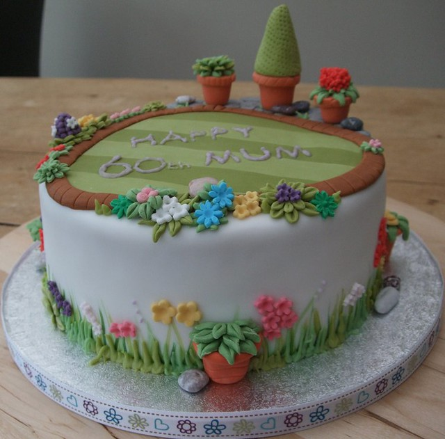 60th garden cake Flickr - Photo Sharing!
