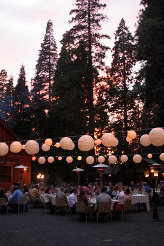 wedding sunset blackandwhite yosemite nightshots redwoods weddings groveland olderbride oldergroom