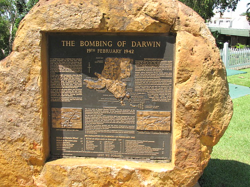 Bombing of Darwin Plaque Government House March 2010