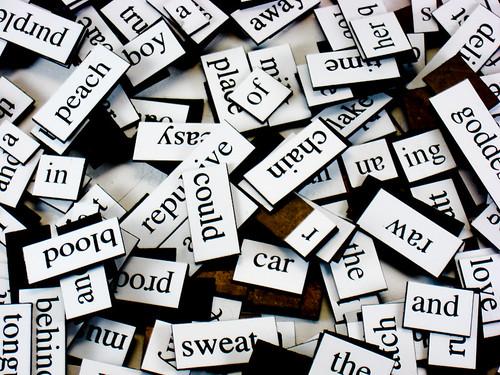 magnetic fridge poetry