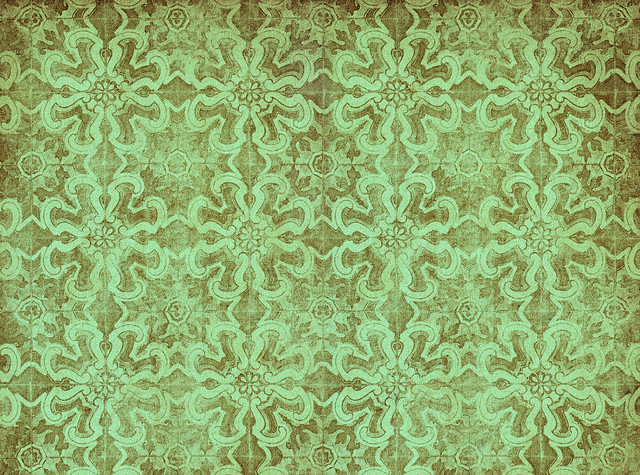 green vintage wallpaper - photo #8
