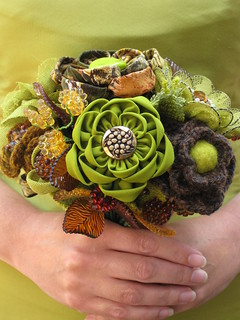 Vintage Textile Wedding Bouquet