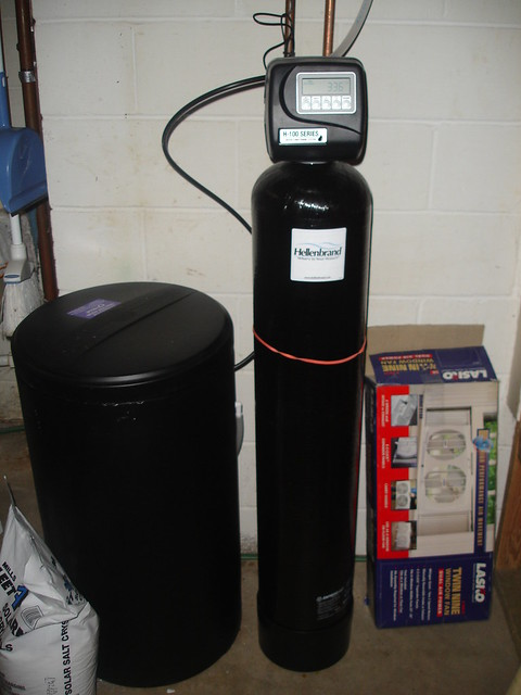 how to set up water softener timer