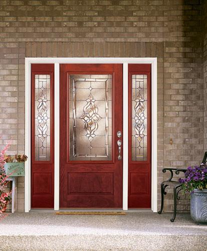 Feather River Door Fiberglass Entry Doors Light Oak Door Sidelites W