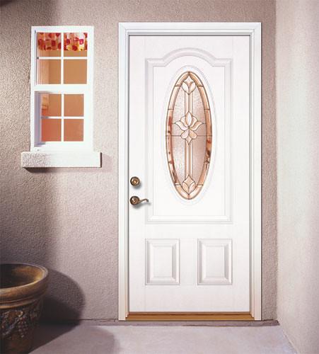Feather river door fiberglass entry doors smooth white door flickr photo sharing - Home depot feather river door ...