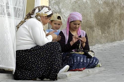 Cappadocian Women Doing Hand Knitting - Cappadocia, Turkey