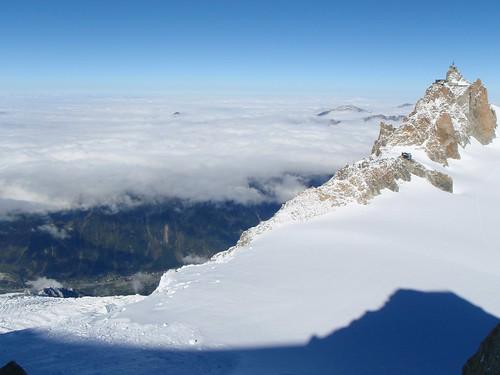 月, 2010-10-18 12:51 - Shot from Chèré Couloir, Mont Blanc du Tacul.