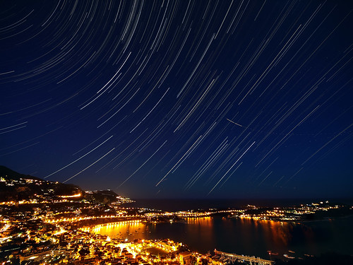 Star Trails over Villefranche sur Mer | by jpmiss