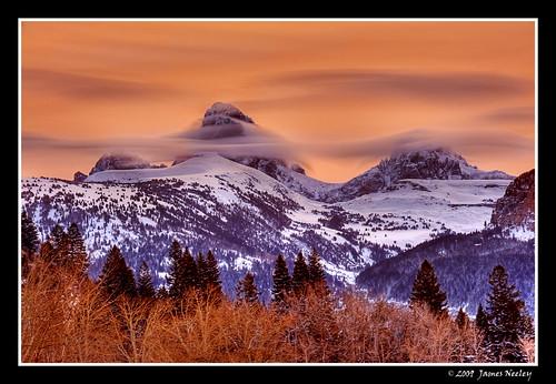 mountain sunrise landscape bravo idaho grandtetons tetons hdr 5xp jamesneeley