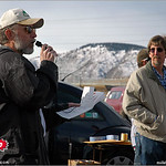 John Bird speaks to players at the 2005 Ice Bowl, West Arvada Course.