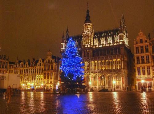 Sapin sur la grand'place Bruxelles HDR