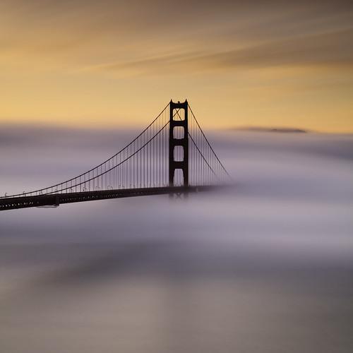 ocean sanfrancisco california longexposure sky seascape color fog clouds sunrise canon explore goldengatebridge cables lee bayarea marincounty frontpage marinheadlands ef2470f28l bratanesque bwnd110 ostrellina 5dmarkii 39gnd