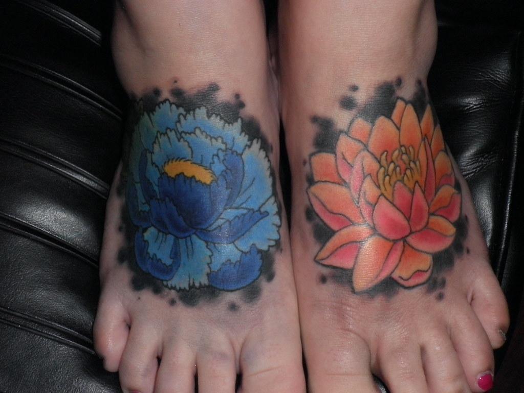 Peony Tattoo Flower Tattoo Lotus Tattoo Foot Tattoo A Photo On