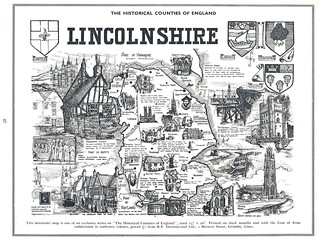 Historical County Of Lincolnshire Map (Lincolnshire Life 07-1971)