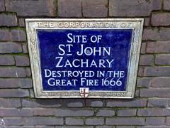 Photo of St. John Zachary, London blue plaque