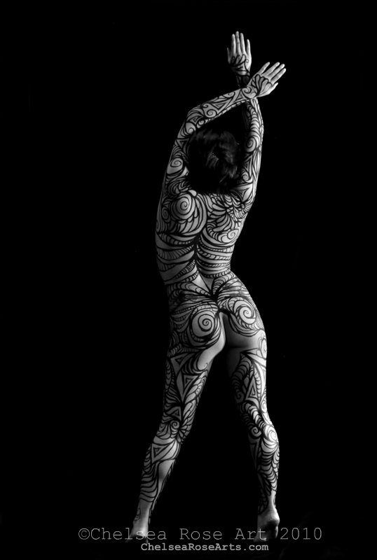 Blissful Hope- body art photography