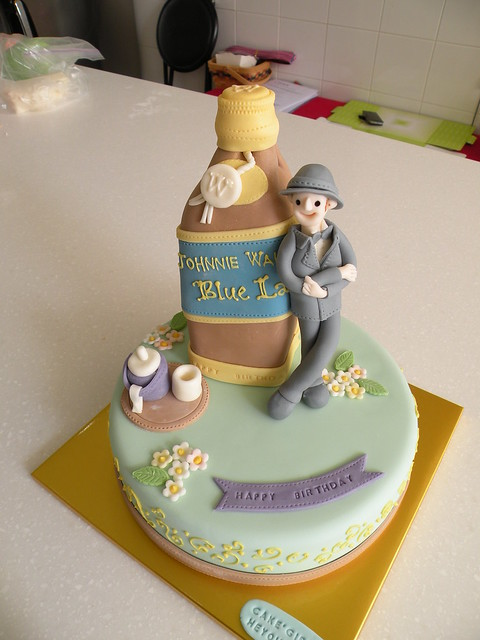 Johnnie Walker Blue Label Cake http://www.flickr.com/photos/cakegirl/4312622731/