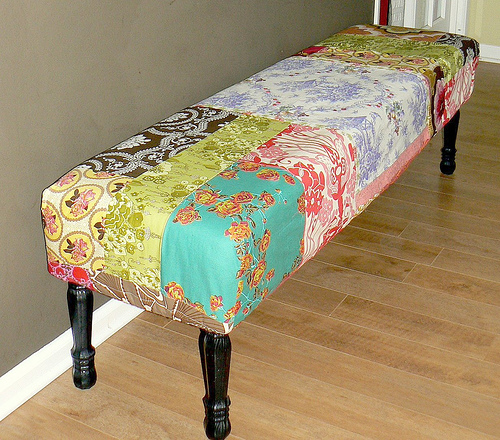 DIY Patchwork Bench Cover
