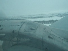 Landing at the Inuvik Mike Zubko Airport (YEV)
