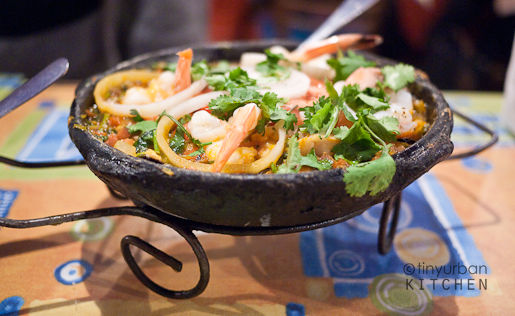 Fish, shrimp, mussels moqueca