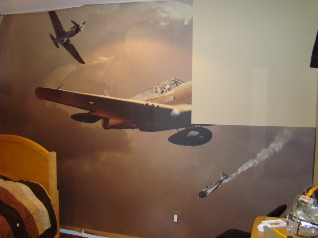 Airplane wall mural flickr photo sharing for Aeroplane wall mural